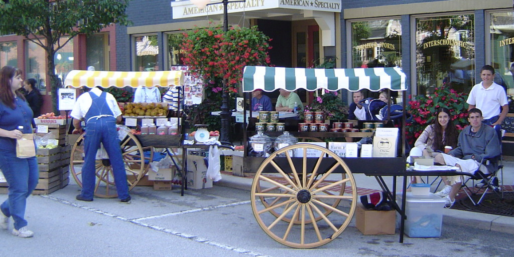 Roanoke Farmers' Market cart