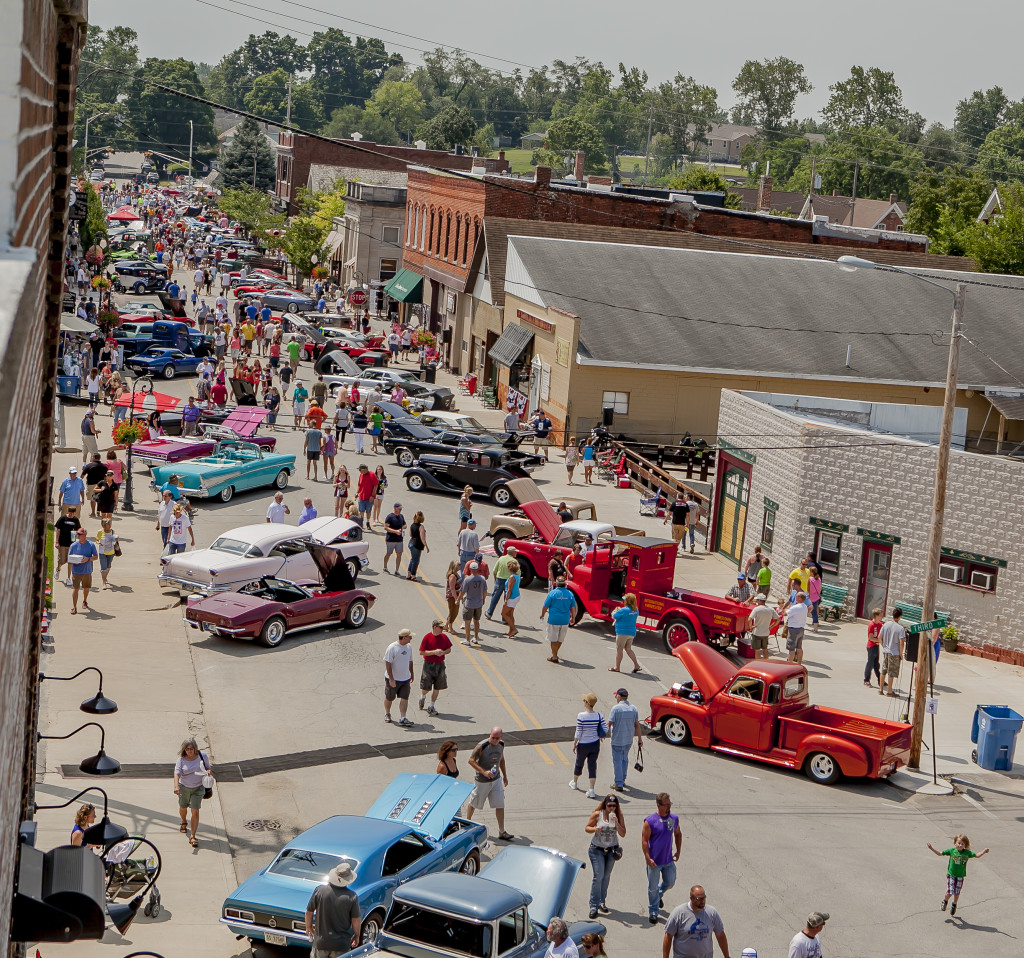 Rolling-Into-Roanoke-Downtown-July-Summer-Classic-Car-Show-huntington-county-Indiana